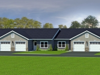 rendering of a ranch house exterior